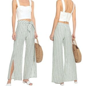 Joie | L Sahira tie striped linen wide-leg pants